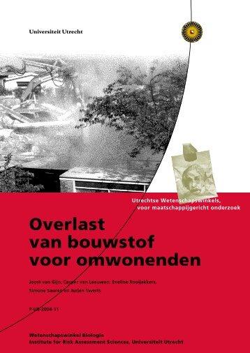 Overlast van bouwstof voor omwonenden - Universiteit Utrecht