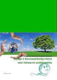 Bijlage 2 - Duurzaamheid bij aanbestedingen - Gemeente Meerssen