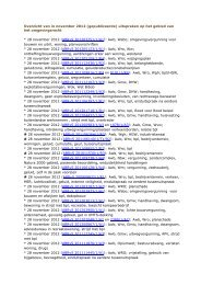 Overzicht van in november 2012 (gepubliceerde) uitspraken op het ...