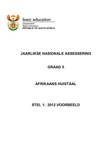jaarlikse nasionale assessering graad 5 afrikaans huistaal stel