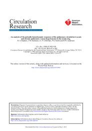 An Analysis of the Pulsatile Hemodynamic Responses of the ...