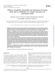 Efficacy of pulsatile amoxicillin and clarithromycin dosing alone and ...