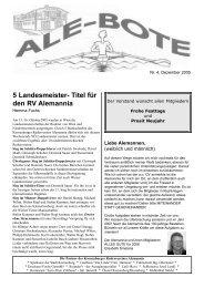 5 Landesmeister- Titel für den RV Alemannia