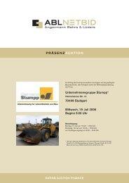 Unternehmensgruppe Stumpp* 70499 Stuttgart Mittwoch ... - NetBid
