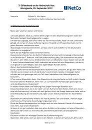 Ansprache zum 3. Stifterabend downloaden - NetCo Professional ...