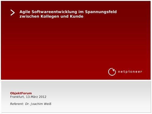 Den Vortrag können Sie hier herunterladen - Netpioneer GmbH