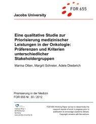 Eine qualitative Studie zur Priorisierung medizinischer Leistungen in ...