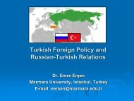in Turkish Foreign Policy