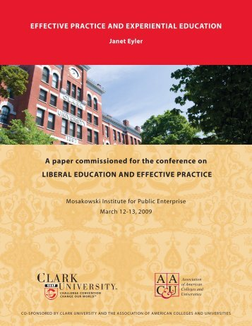 A paper commissioned for the conference on LIBERAL EDUCATION ...