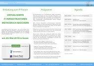 Einladung zum IT-Forum Programm Agenda - Networkers AG