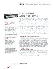 Citrix NetScaler Application Firewall - Networkers AG