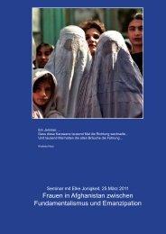 Frauen in Afghanistan zwischen Fundamentalismus und Emanzipation