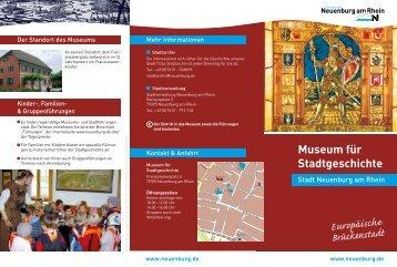 Museum für Stadtgeschichte - Stadt Neuenburg am Rhein