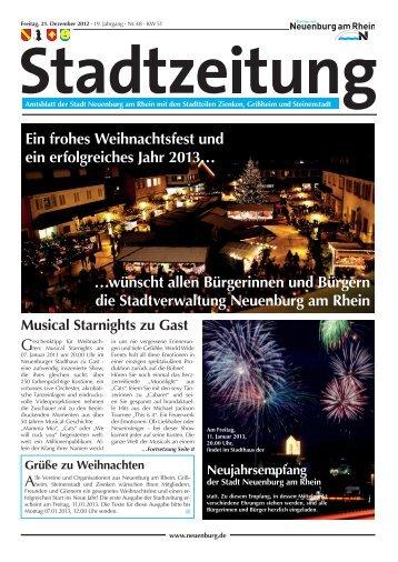 Stadtzeitung KW 51 - Stadt Neuenburg am Rhein