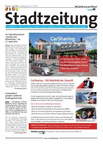 Stadtzeitung KW 14 - Stadt Neuenburg am Rhein