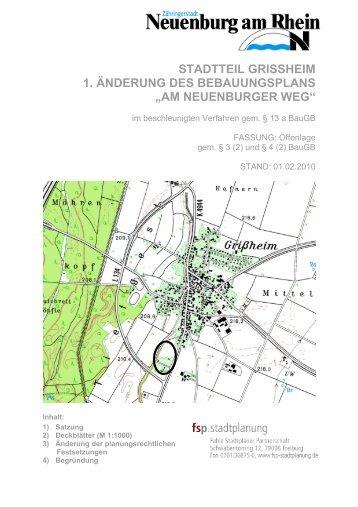 Begründung Offenlage - Stadt Neuenburg am Rhein