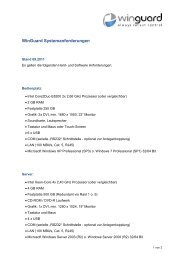 WinGuard Systemanforderungen - WinGuard by Advancis Software ...
