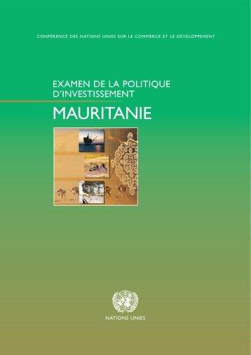 Examen de la politique d'investissement de la Mauritanie - Unctad