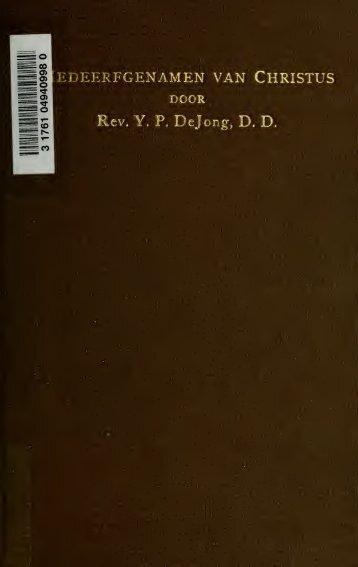 Medeerfgenamen van Christus; vijf-en-twintig leerredenen over ...
