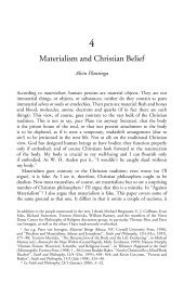 Materialism and Christian Belief - Andrew M. Bailey