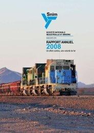 Rapport annuel 2008 (français) - SNIM