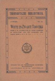 Witte en zwarte tooverij / door C.W. Leadbeater in