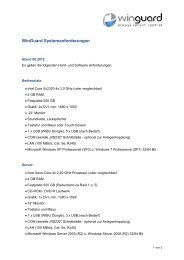 WinGuard Systemanforderungen deutsch - WinGuard by Advancis ...