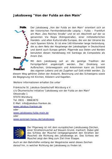 """Jakobsweg """"Von der Fulda an den Main"""" - Neuhof"""