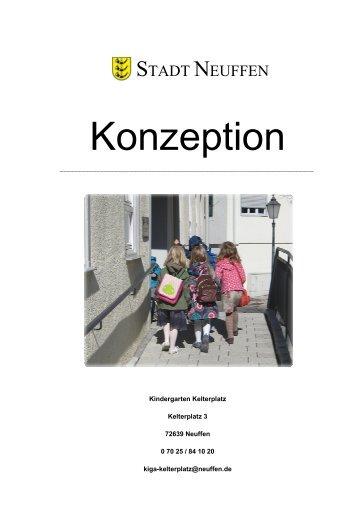 Konzeption des Kindergartens Kelterplatz - Stadt Neuffen