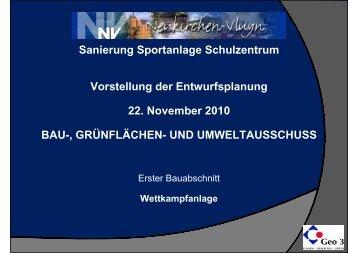 Sanierung Sportanlage Schulzentrum - Stadt Neukirchen-Vluyn