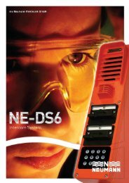 DS6 Intercom System - Neumann Elektronik