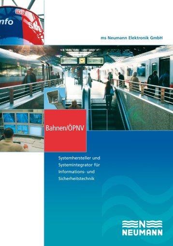 Bahnen/ÖPNV-Broschüre (PDF) - Neumann Elektronik