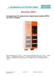 Newsletter 2008-1 - Neumann Elektronik