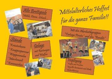 Mittelalterliches Hoffest fürdieganzeFamilie!!