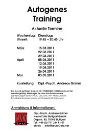 Autogenes Training - NeuroCafe Stuttgart
