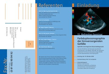 Einladung Referenten - Prof. Dr. Eva Bartels