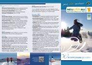 Winterprogramm 2011 - Neuschönau