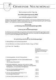 Erschließungsbeitragssatzung vom 30.09.2012 - Neuschönau