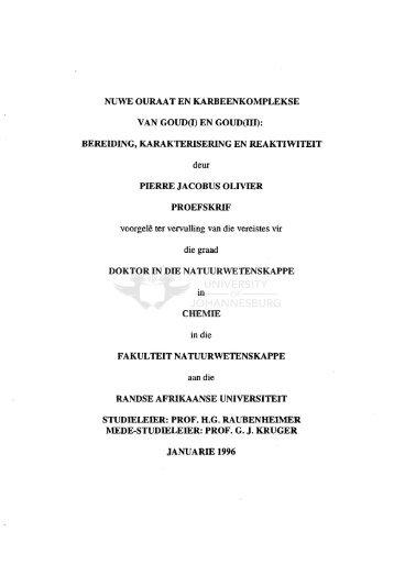 Nuwe ouraat en karbeenkomplekse van goud(I) en goud(III ...