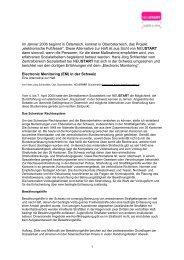 Electronic Monitoring (EM) in der Schweiz (PDF, 125 KB) - Neustart