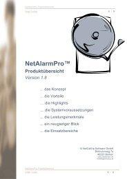 NetAlarmPro? - NetCallUp Software GmbH