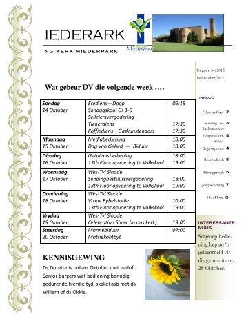 IEDERARK - Welkom by NG Kerk Miederpark