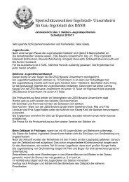Bericht der Sektionsjugendleitung