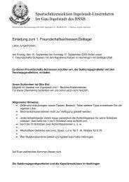 Sportschützensektion Ingolstadt-Unsernherrn Im Gau Ingolstadt des ...