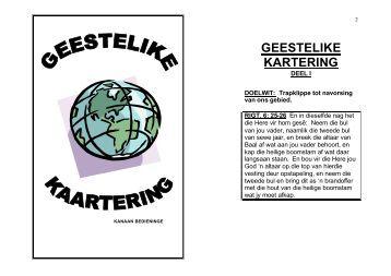 GEESTELIKE KARTERING - Kanaan Ministries