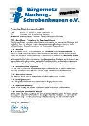 Mitgliederversammlung 2011 in Karlshuld - beim Bürgernetz ...