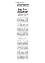 Berichterstatttung in der Neuburger Rundschau - beim Bürgernetz ...