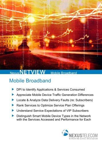 NexusNETVIEW Mobile Broadband Product ... - Nexus Telecom