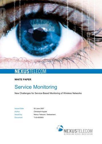 White Paper Service-based Monitoring for Wireless - Nexus Telecom