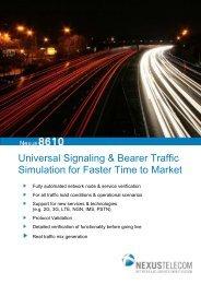 Nexus8610 Product Brochure (PDF) - Nexus Telecom